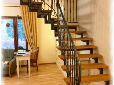 Balustrada kuta schody